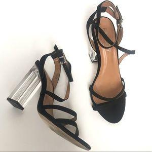 Report Falcon Transparent block heel sandals 7